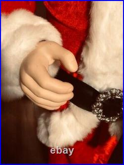 6 ft. (1.83 CM) Life Size Deluxe Santa Claus, Dancing And Singing Jingle Bells