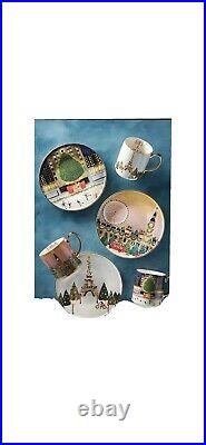 Anthropologie Christmas In The City Plates