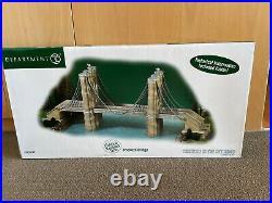 Brand New In Box, Dept 56, Christmas in the City, RARE Brooklyn Bridge, #59247