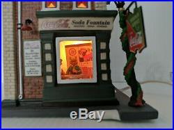 DEPARTMENT 56 CHRISTMAS IN THE CITYCOCA COLA SODA FOUNTAIN Restaurant 59221