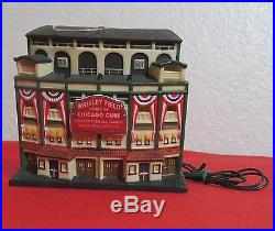 DEPT 56 CHICAGO CUBS WRIGLEY FIELD Lighted Building Christmas Ornament EC