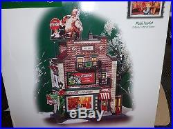 Dept 56 Christmas In The City Coca Cola Soda Fountain New