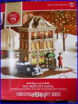 DEPT 56 CHRISTMAS IN THE CITY THE PRESCOTT HOTEL NIB Still Sealed