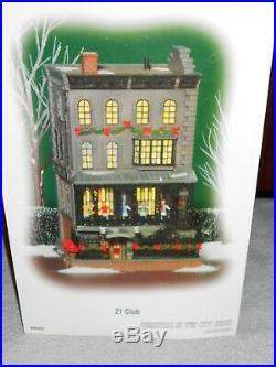 DEPT 56 CHRISTMAS IN THE CITY Village 21 CLUB Still Sealed NIB