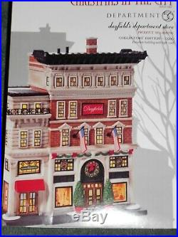 DEPT 56 CHRISTMAS IN THE CITY Village DAYFIELD'S DEPARTMENT STORE NIB