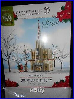 DEPT 56 CHRISTMAS IN THE CITY Village WDFS RADIO NIB Still Sealed