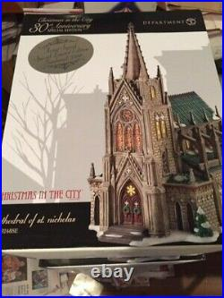 DEPT 56 Christmas In The City CATHEDRAL OF ST. NICHOLAS Signed/Numbered NIB