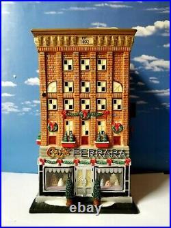 DEPT 56 Christmas in the City FERRARA BAKERY! 3D Scene, Complete, Excellent