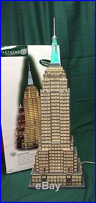 DEPT 56 EMPIRE STATE BUILDING Christmas in the City HISTORICAL LANDMARK