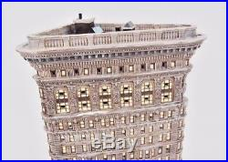 DEPT 56 Holiday House Christmas In The City's NYC Landmark FLATIRON Building