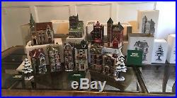 DEPT. 56 Lot Of 12 HERITAGE VILLAGE COLLECTION Christmas In The City With Boxes