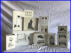 DEPT 56 snow village accessories lot of 12