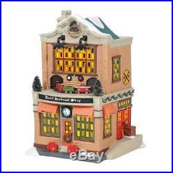 Department 56 6005384 Model Railroad Shop