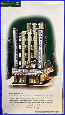 Department 56 Christmas In The City Radio City Music Hall #58924 Retired