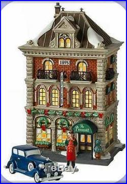 Department 56 Christmas In The City THE PRESCOTT HOTEL Gift Set/3 805536 BNIB