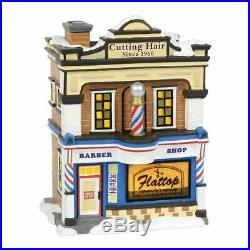 Department 56 Christmas in The City Village Flattop Barbershop Building 6000638
