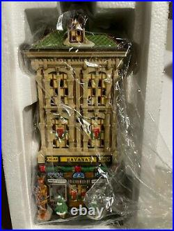 Department 56 Christmas in the City Havana's Cigar Shop 805534 RARE New in Box