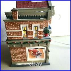 Department 56 Christmas in the City Hensley Cadillac & Buick Building Retired