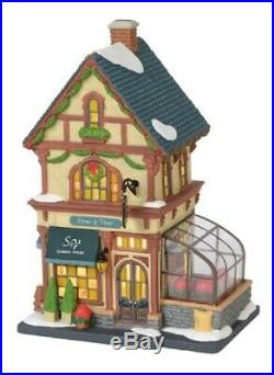 Department 56 Christmas in the City Stems and Vines Garden House 6000572 New
