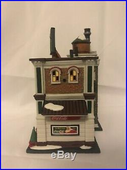 Department 56 Coca Cola Bottling Company Christmas In The City Series #59258 New