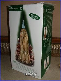 Department 56 Empire State Building 2003 In Box Christmas City Series 59207