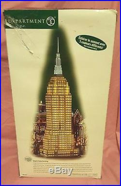 Department 56 Empire State Building large ALL LIGHTS WORK