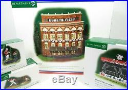Department 56 LOT (4) EBBETS FIELD MLB NY Christmas in the City (59203 + 3) EUC