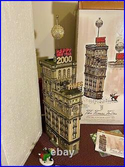 Department 56 THE TIMES TOWER 2000 Special Edition Set Retired Dept 56 CIC
