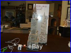 Department 56 The Chrysler Building Christmas In the City GLORIOUS! (Bldg 4)