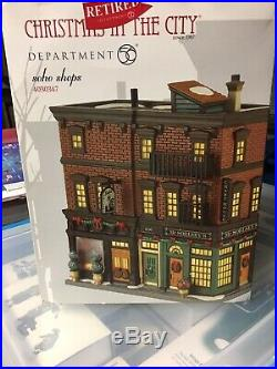 Department Dept 56 Christmas In the City Soho Shops