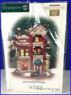 Dept 56 CIC Christmas in the City DOWNTOWN RADIOS & PHONOGRAPHS 56.59259 New