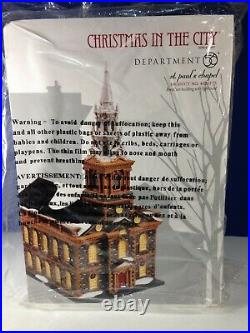 Dept 56 CIC Christmas in the City ST. PAUL'S CHAPEL Church 4020173 New & RARE