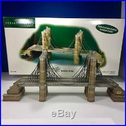 Dept 56 Christmas In The City- Brooklyn Bridge-#59247-Historical Landmark Series