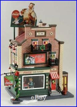 Dept 56 Christmas In The City Coca Cola Soda Fountain A Coke For Santa Figurine