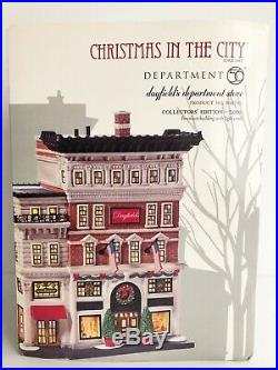 Dept 56 Christmas In The City Dayfields Department Store #808795 Euc