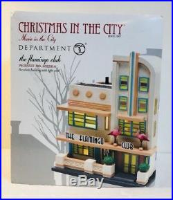 Dept 56 Christmas In The City Flamingo Club With The Flamingo Revue Figure