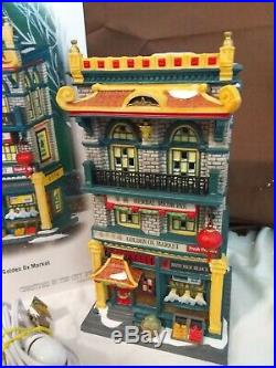 Dept 56 Christmas In The City Lighted 2008 THE GOLDEN OX MARKET 805533 Retired