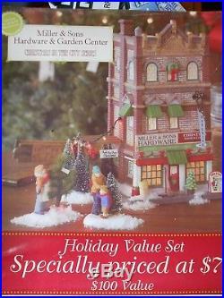 Dept 56 Christmas In The City Miller & Son's Hardware & Garden Center Nib