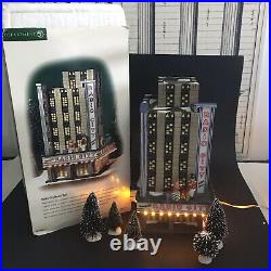 Dept 56 Christmas In The City Radio City Music Hall In Box with Trees READ-FLAW