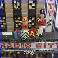 Dept 56 Christmas In The City Radio City Music Hall In Box with Trees Rare Retired
