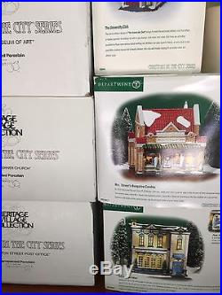 Dept 56 Christmas In The City Retired Lot /15 MIB