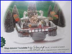 Dept 56 Christmas In The City Rockefeller Plaza Skating Ring Brand New