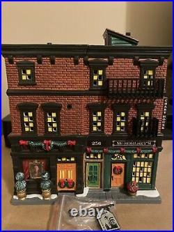 Dept 56 Christmas In The City Soho Shops- NIB- Rare