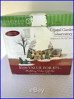 Dept 56 Christmas In The City The Crystal Gardens Conservatory