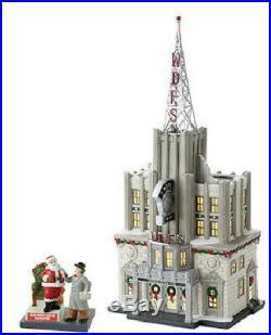 Dept 56 Christmas in City WDFS Radio includes Santa Accessory NEW in box
