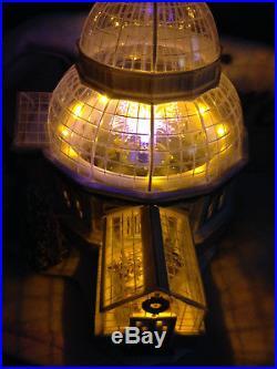 Dept 56 Christmas in The City Crystal Gardens Conservatory Fiber Optics New