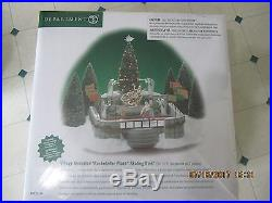Dept 56 Christmas in the City Animated Rockefeller Plaza Skating Rink 52504 New