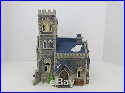 Dept 56 Christmas in the City Catherdral Church of St Mark #55492 Good Condition