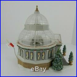 Dept 56 Christmas in the City Crystal Gardens Conservatory #59219 Works Well! 1