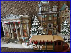 Dept 56 Christmas in the City Hudson Public Library, + 1